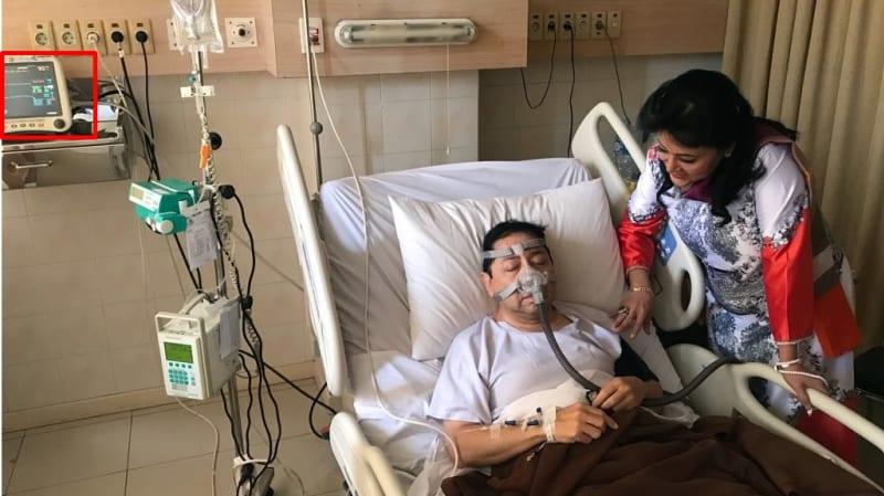 Setya Novanto dirawat di rumah sakit.