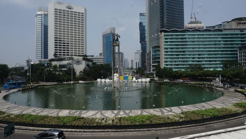 Jakarta Lengang di Bundaran Hotel Indonesia