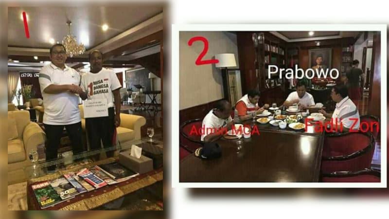 Cuitan Hoaks tentang MCA dan Fadli Zon