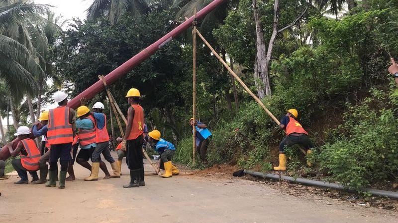 Pemasangan PLTD Pulau Tiga, Natuna