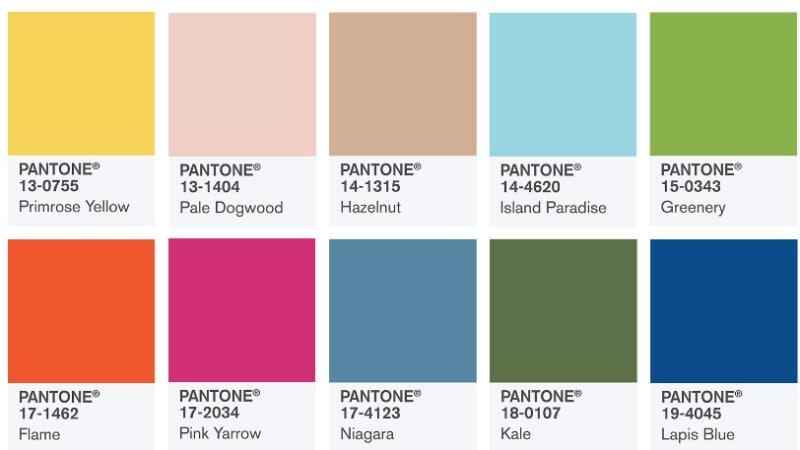 Pantone 10 Warna