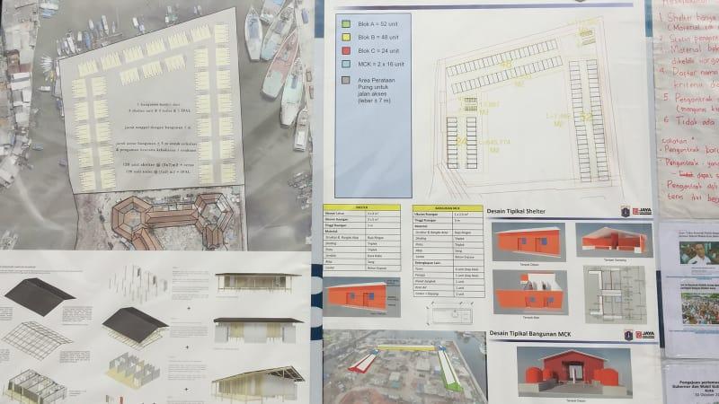 Rancangan shelter sementara BPBD Jakarta