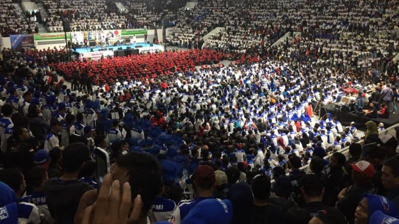 Suasana di dalam Istora Senayan
