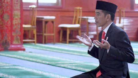 Jokowi di Masjid Niujie, Beijing, China