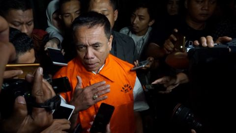 Gubernur Aceh Irwandi Yusuf resmi ditahan KPK