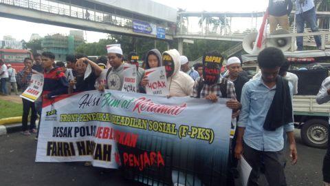Aksi tuntut penjarakan Fahri Hamzah