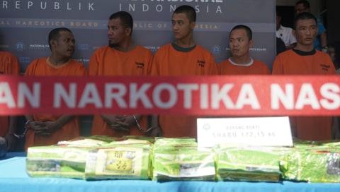 Pengungkapan kasus penyelundupan narkotika selama bulan April 2019 dengan total barang bukti 122,15 kg Shabu