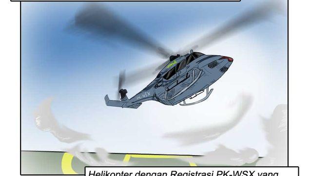 Komik: Helikopter PK-WSX Jatuh dan Menewaskan Seorang Pekerja di Morowali, Sulawesi Tengah
