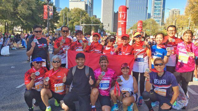 Dari Bekasi hingga New York Ramaikan Chicago Marathon 2017