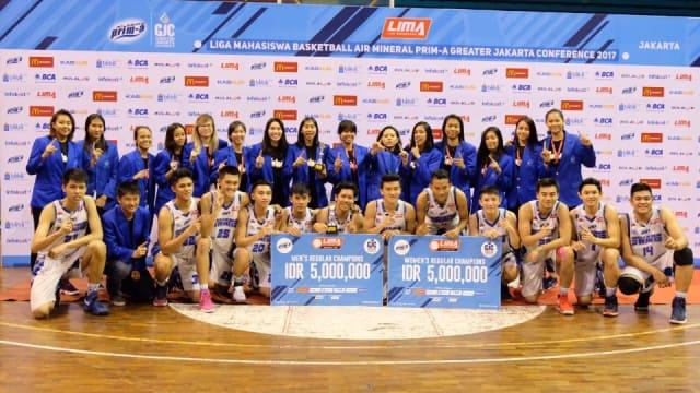 Tim Basket Esa Unggul Borong Gelar Juara di Turnamen Liga Mahasiswa GJC 2017