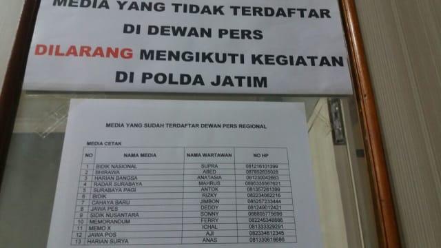 Pembatasan Peliputan,  AMSI Minta Klarifikasi Polda Jatim