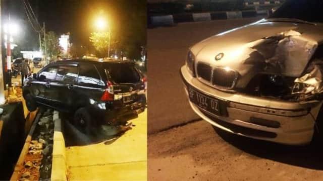 Brakk!! Pengemudi BMW Nekat Tubruk Mobil Parkir di Windsor