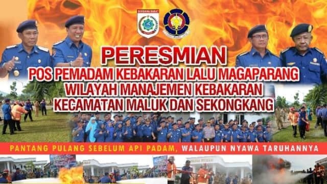 Di Ahir Masa Jabatannya Kepala Damkar KSB Resmikan 2 pos Pemadam Kebakaran