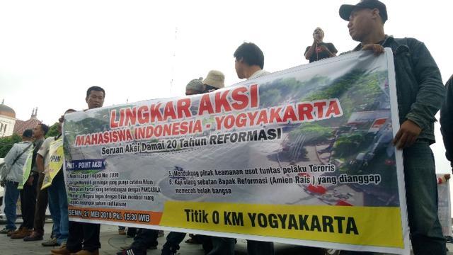 Refleksi 20 Tahun Reformasi, Aksi Damai Lingkar Mahasiswa Yogyakarta