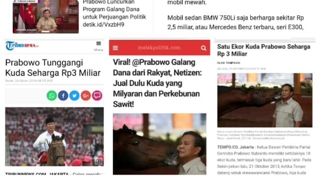 Prabowo Galang Dana dari Rakyat, Netizen: Jual Dulu Kuda yang Miliaran dan Perkebunan Sawit!