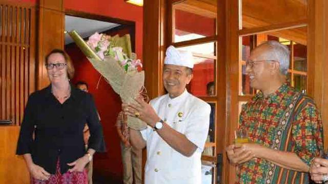 Pamitan, Gubernur Pastika Minta Para Konsul Dukung Pariwisata Bali