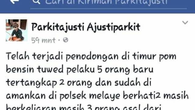 Info di FB Soal Penodongan di Melaya, Jembrana Cuma Hoaks