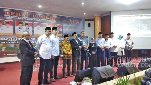 Debat Publik Pilkada Kota Sukabumi Dibatalkan