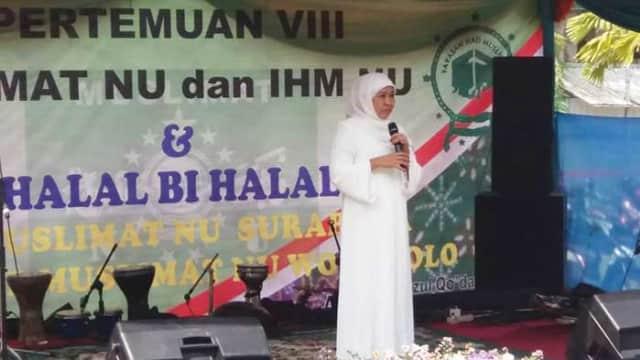 Khofifah Perkenalkan Gus Habib kepada Pengurus Muslimat NU se-Surabaya