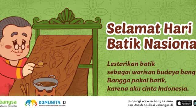 Selamat Hari Batik Nasional 2017