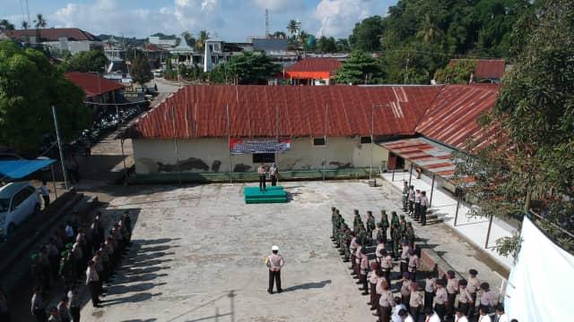 AKBP Gusti Maycandra Lesmana, S.IK, MH Pimpin Apel Gelar Pasukan Operasi Keselamatan 2018
