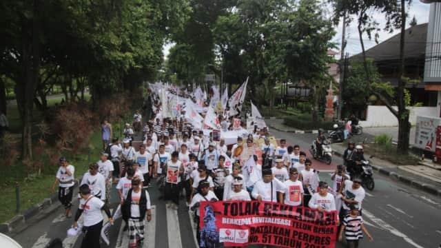Foto: Gegap Gempita Aksi 'Bali Tolak Reklamasi'