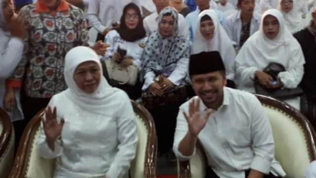 Syukuran Relawan Khofifah-Emil, Ribuan Massa Padati Jatim Expo