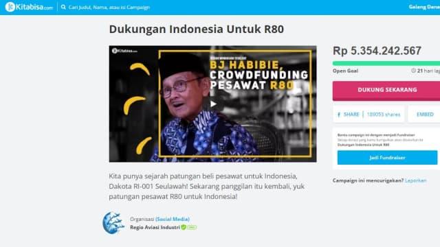 Tembus 5 Miliar, Ini 10 Pesan Netizen untuk Habibie dan R80