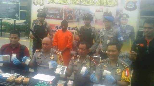 Pengedar Sabu Antar Pulau Dibekuk Polisi Jembrana