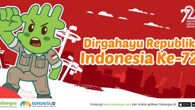Dirgahayu Indonesia ke-72, Indonesia Kerja Bersama