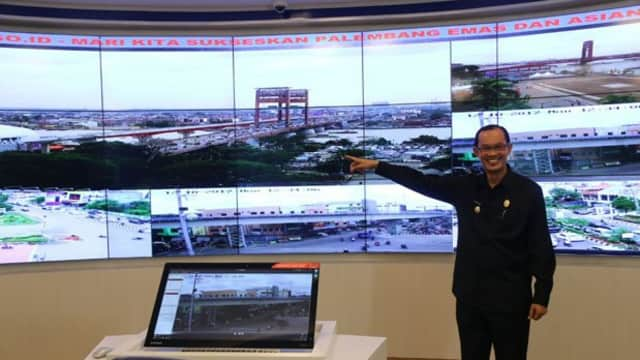 Solid Gold  Pemkot Palembang Pasang 500 CCTV di Sejumlah Titik Buat Asian Games