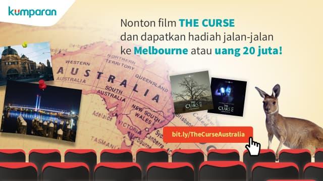 Nonton The Curse Berhadiah Trip ke Australia atau Uang Rp 20 Juta