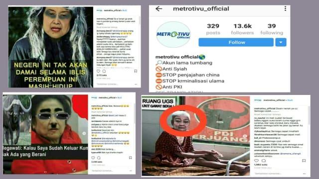 Akun Instagram Metrotivu_Official, Penyebar Fitnah dan Ujaran Kebencian