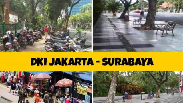 Bandingkan Trotoar Surabaya dan Jakarta, Bukti Kualitas Pemimpin Menata Kota