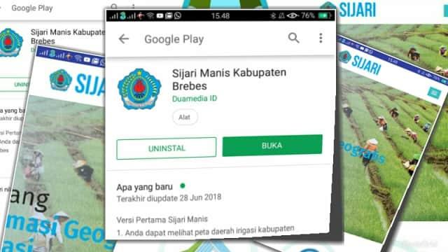 Sijari Manis, Aplikasi Android Tentang Irigasi di Brebes
