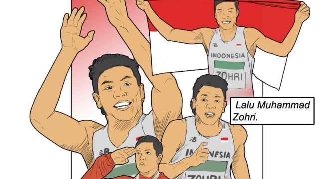 Zohri, Sang Juara Dunia Lari 100 Meter dari Indonesia