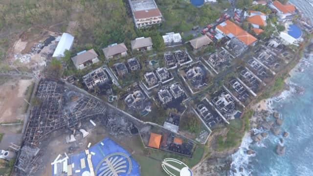 Belasan Villa di Pecatu, Bali, Terbakar