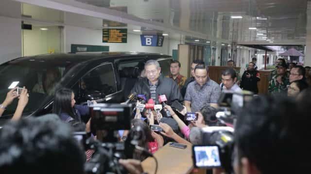 Kesehatan Membaik, SBY Tinggalkan RSPAD