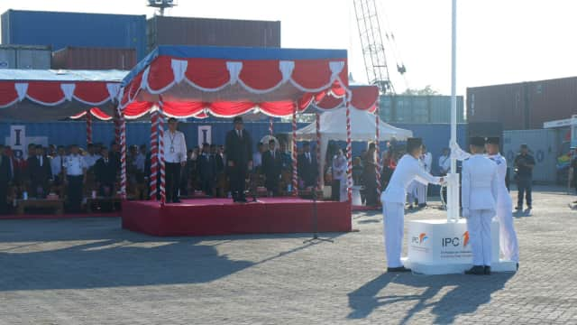 Khidmatnya Peringatan HUT ke-73 RI di Pelabuhan Belitung