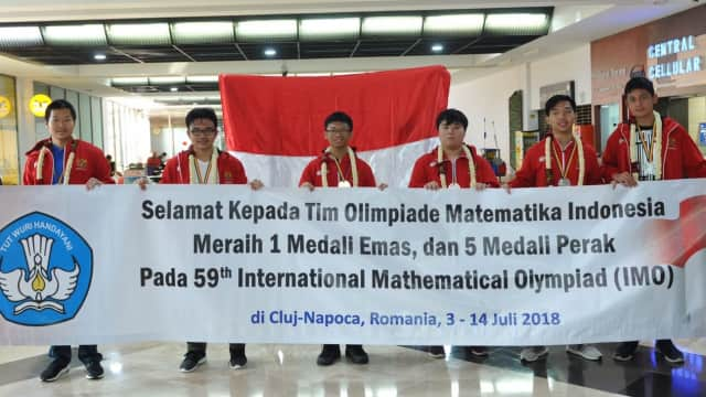 Tim Olimpiade Matematika SMA Indonesia Masuk 10 Terbaik Dunia