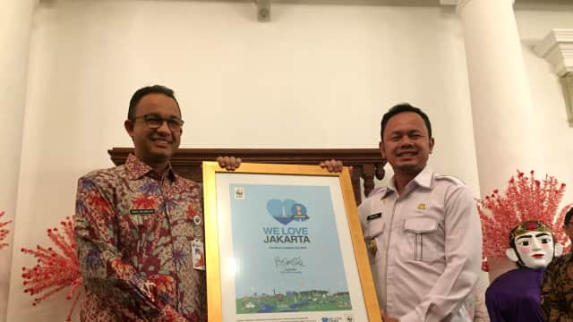 Bima Arya Serahkan Penghargaan Lingkungan 'We Love Cities' ke Anies
