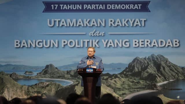 7 Poin Penting Pidato SBY di HUT ke-17 Partai Demokrat