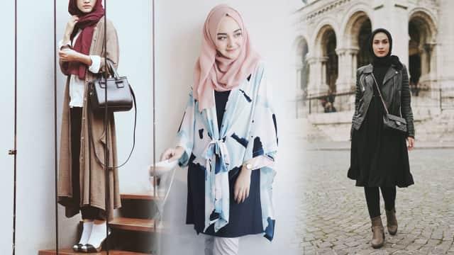 Inspirasi Padu Padan Outerwear ala 10 Selebgram Hijab
