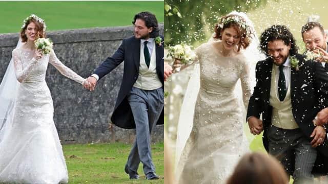Tampilan Rose Leslie Saat Menikah dengan Jon Snow 'Game of Thrones'