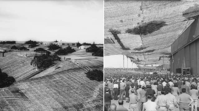 Kamuflase Pabrik Pesawat di Bawah Pedesaan