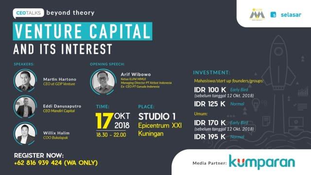 Belajar Cara Mendapat Funding dari Venture Capital di CEO Talks