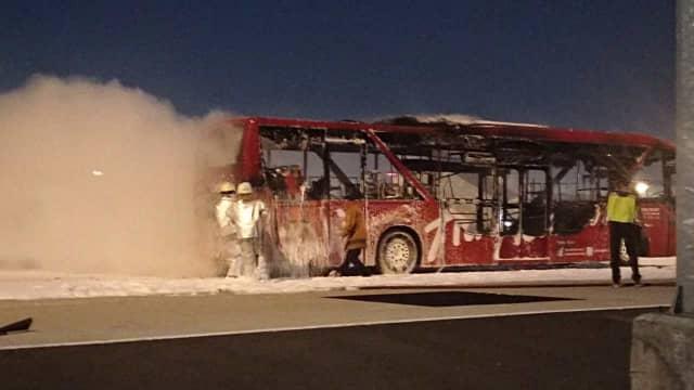 Bus Penumpang Milik AirAsia Terbakar di Bandara Soetta