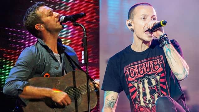 Chris Martin 'Coldplay' Lantunkan 'Crawling' untuk Chester Bennington