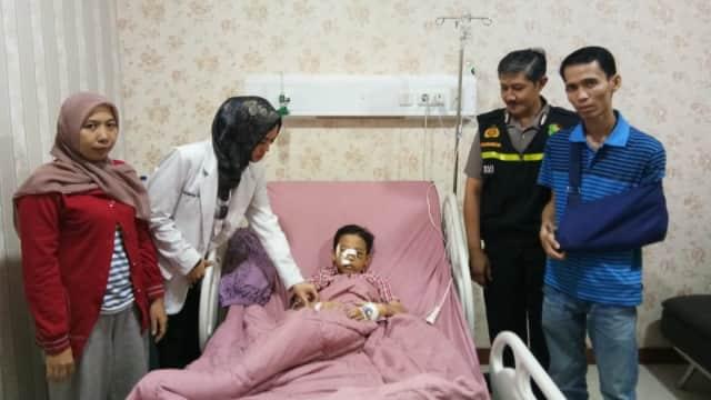 RS Polri Bebaskan Biaya Pengobatan Bocah Korban Lemparan Batu di Depok