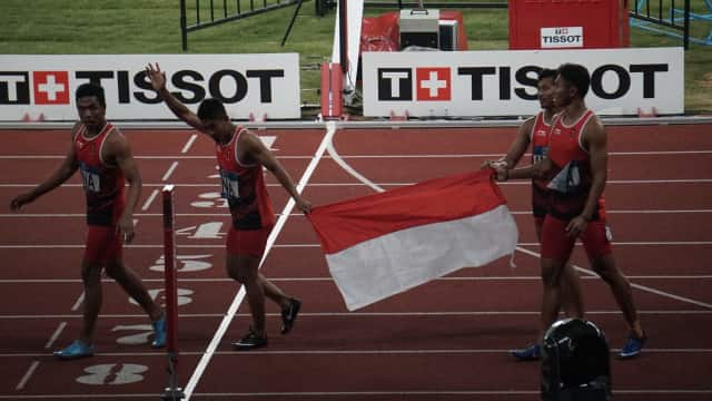 Kunci Kemenangan Tim Estafet Putra Indonesia: Pertukaran Tongkat